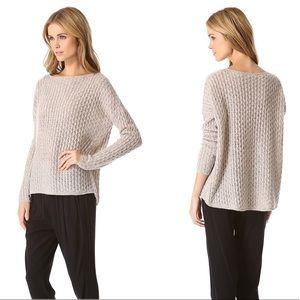 Vince Cream Knit Scoop Neck Wool Blend Sweater